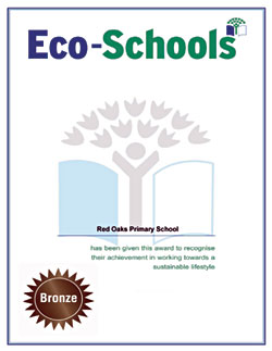 Eco Schools Bronze Award  - Red Oaks Primary School