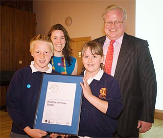 Miss Hancock took 2 children to Bath last Wednesday to receive our ArtsMark Gold award